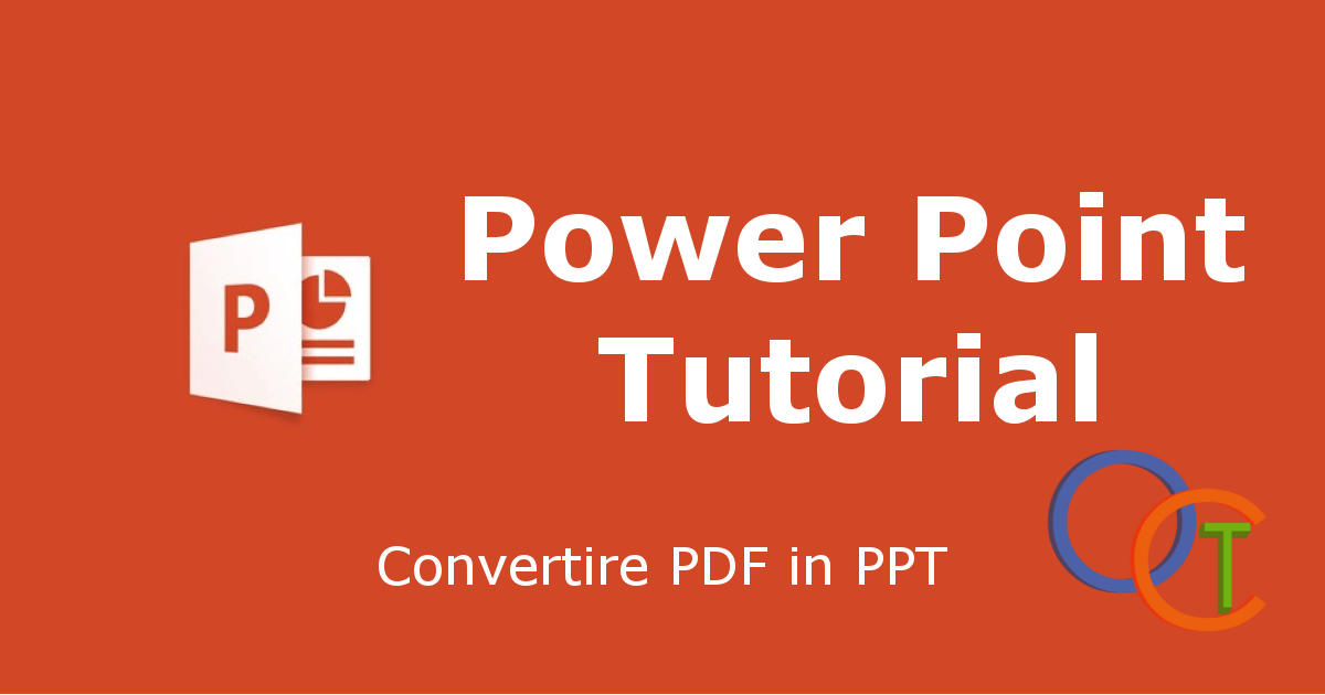Come convertire PDF in PPT   Oneclicktutorial