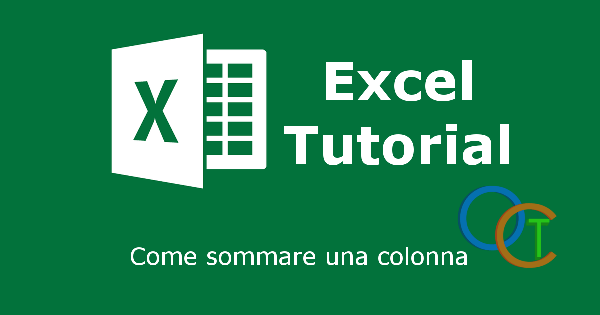 Sommare una colonna in EXCEL