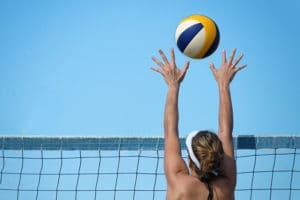 Team Dinner Woman Set Volleyball