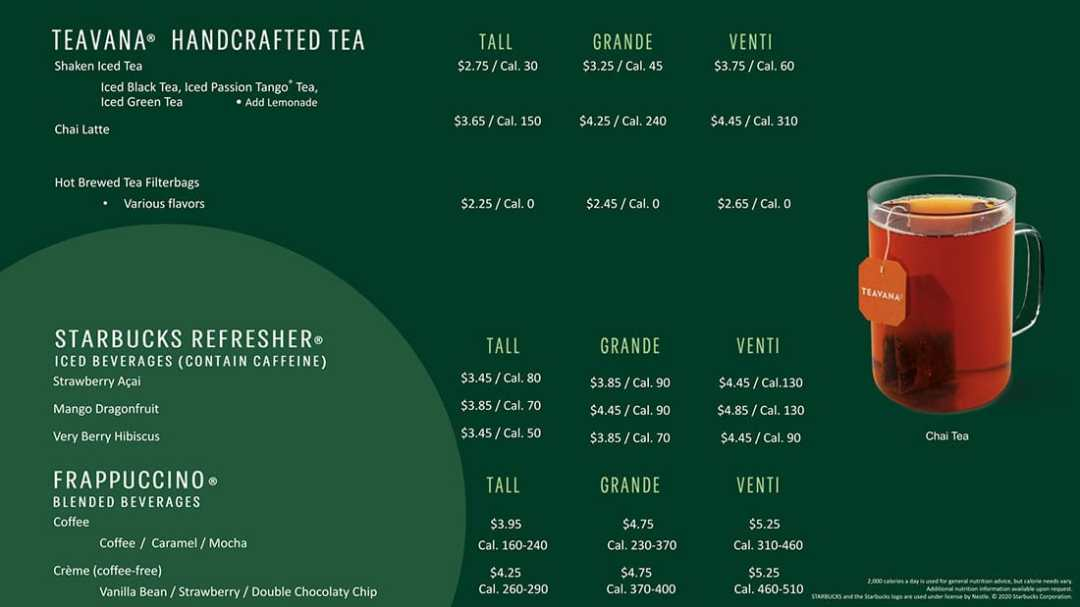starbucks tea frappucino