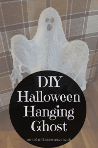 DIY Halloween Hanging Ghost