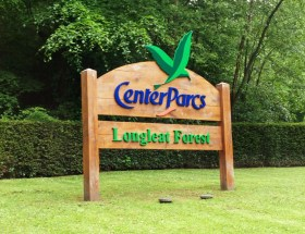 Center Parcs Longeleat entrance Sign