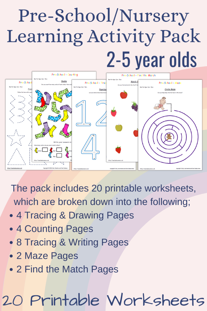 20 Page Pre-School/Nursery Learning Activity Pack