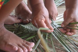 Weaving requires expert dexterity.