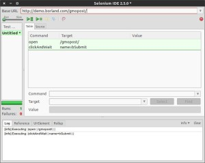 Selenium IDE Add-on Playback