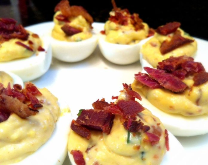 Bacon Deviled Eggs With Jalepenos