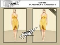 DQ...Tube Satin Dress ( GOLD )