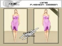 DQ...Tube Satin Dress ( PURPLE )
