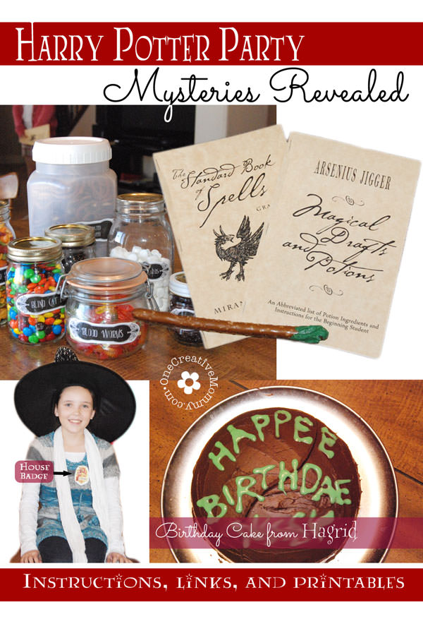 harry potter party games and printables