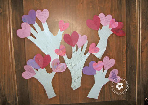 Family Night Valentine Crafts {Love Trees ...