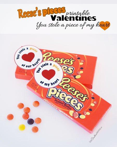 Reeses Pieces Printable Valentines