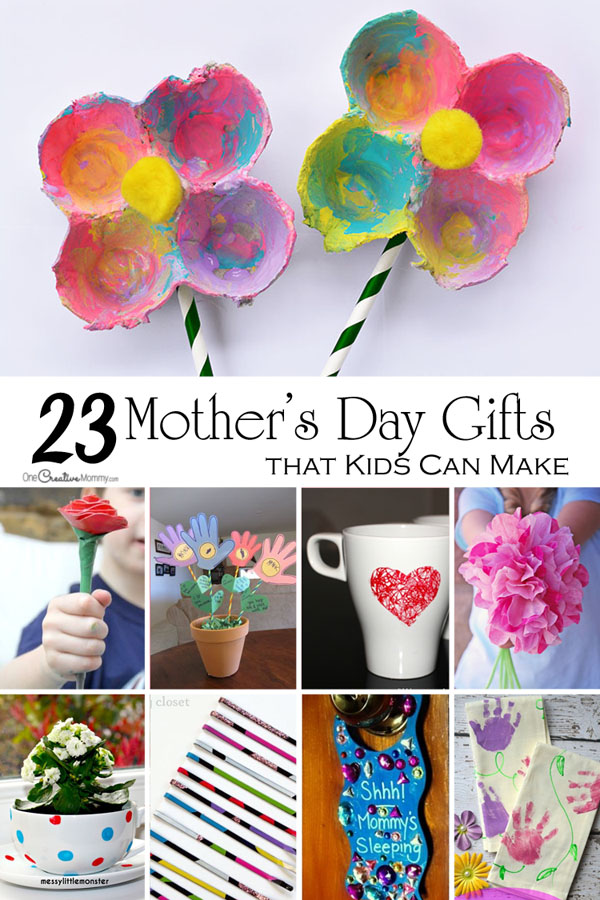 Mother's Day Crafts for Kids - onecreativemommy.com