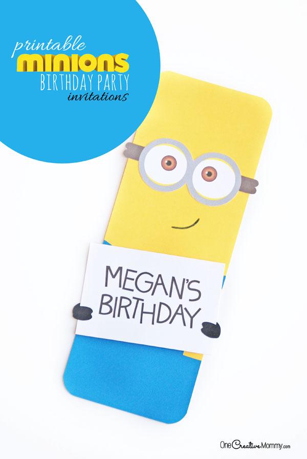 cute minion party invitations