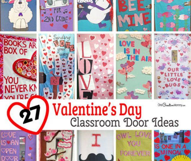 Creative Classroom Door Decorations For Valentines Day Onecreativemommy Com