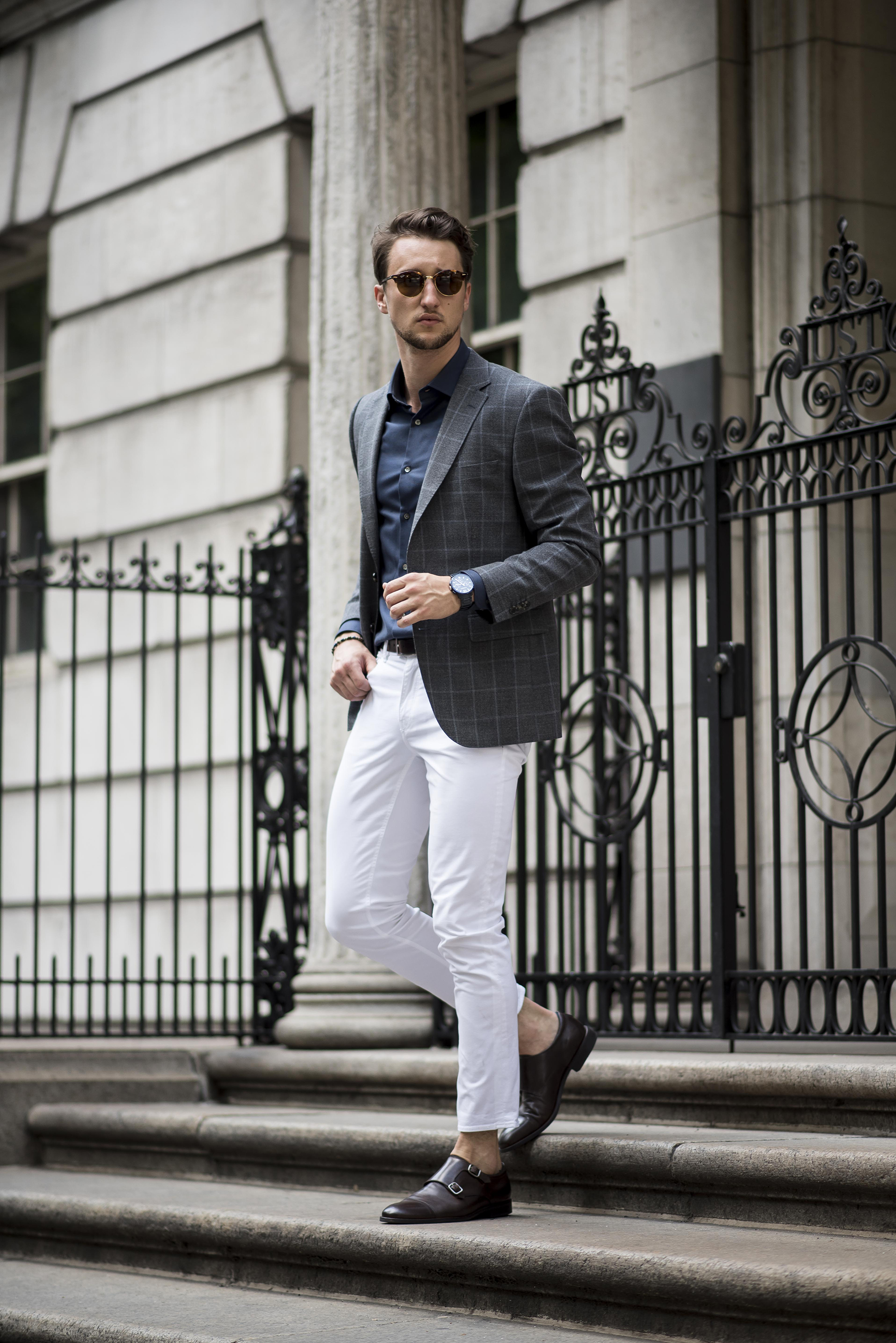 How To 3 Ways To Wear White Jeans For Men One Dapper Street