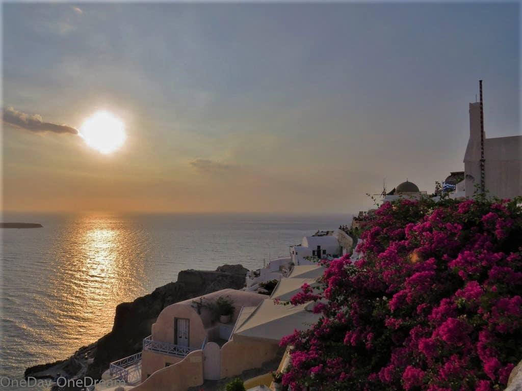 Oïa night in Santorin