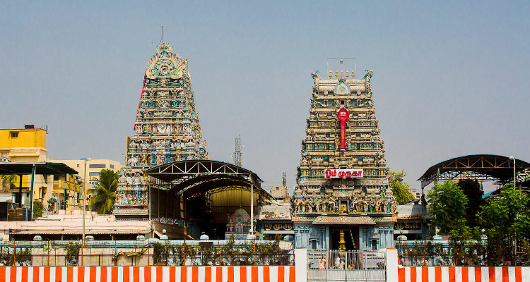 One Day Chennai Local Sightseeing Trip by Car Vadapalani Murugan Temple