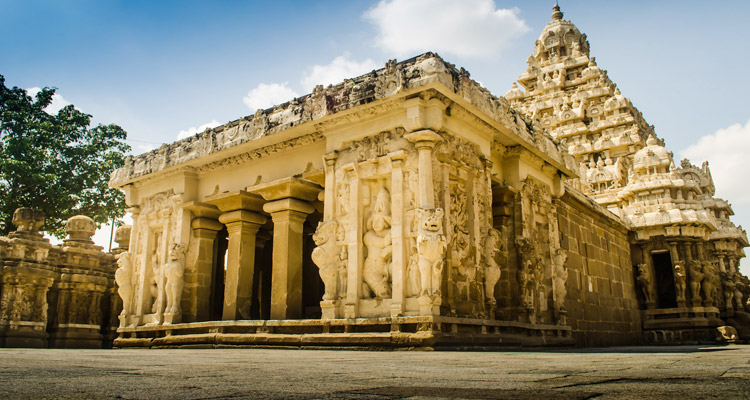 One Day Chennai to Kanchipuram Trip by Car Kailasanathar Temple