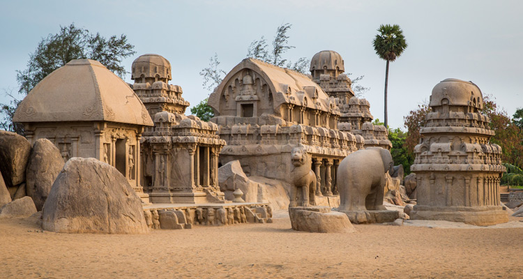 One Day Chennai to Mahabalipuram Trip by Car Pancha Rathas