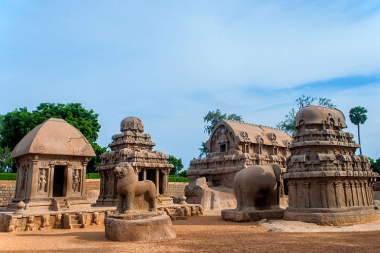 Five Rathas with 1 Day Chennai to Mahabalipuram & Kanchipuram Trip by Car