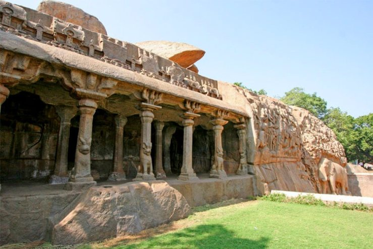Descent of the Ganges & Arjuna's Penance with 1 Day Chennai to Mahabalipuram & Pondicherry Trip by Car
