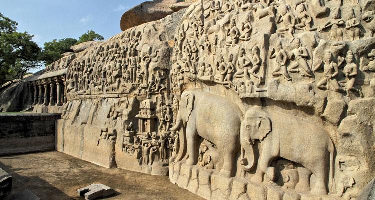 1 Day Chennai to Mahabalipuram Tour by Cab Arjunar Penance