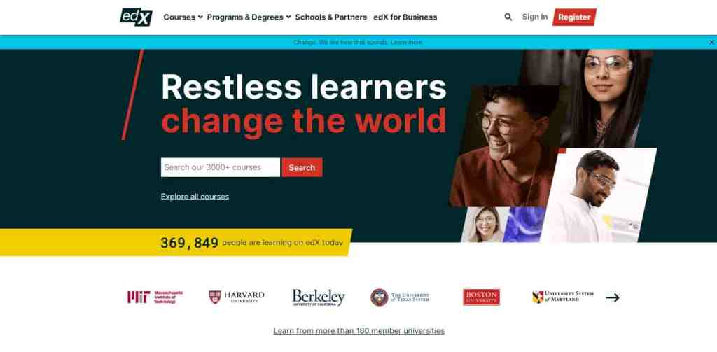 EDX Created by MIT and Harvard