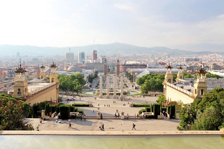 Placa d'Espanya from Montjuïc hill