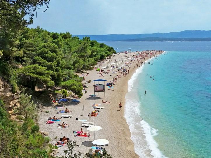 Zlatni Rat Beach Island Brac Croatia