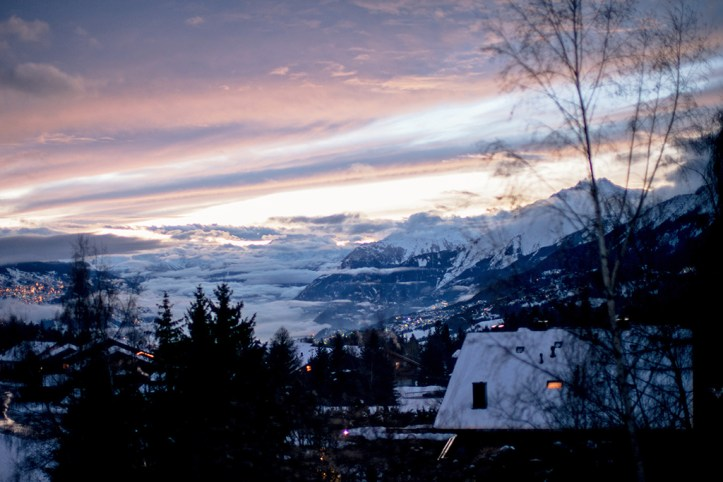 Sunset in Crans Montana