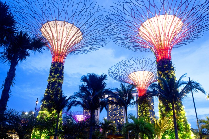 Gardens by the bay Sky Show
