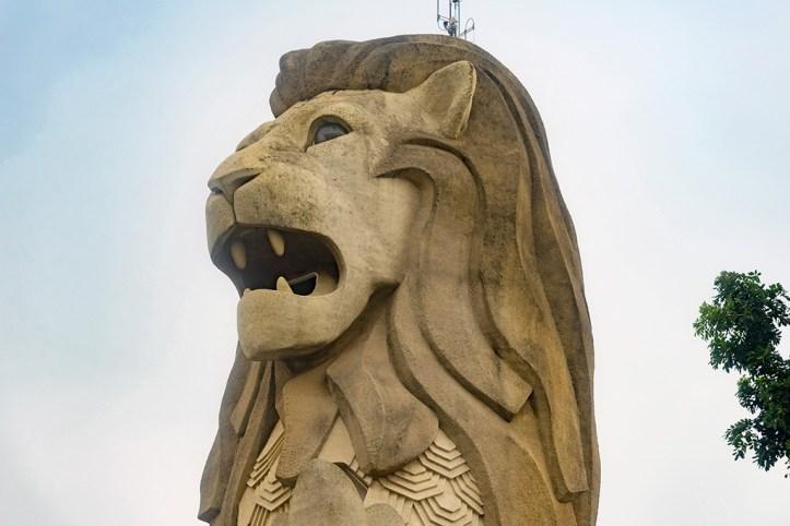 Merlion Statue on Sentosa Island