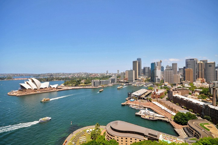 Sydney as seen from the Sydney Harbour Bridge