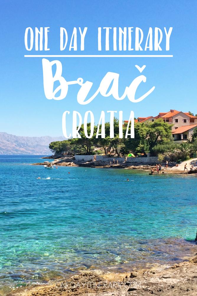 Brac Croatia One day itinerary