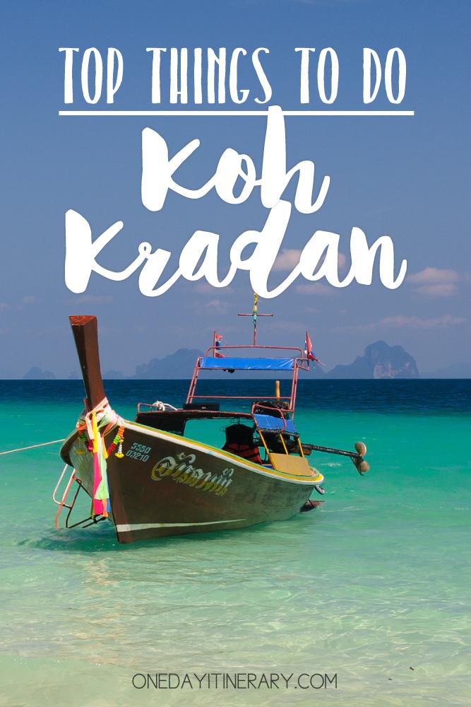 Koh Kradan Thailand Top things to do