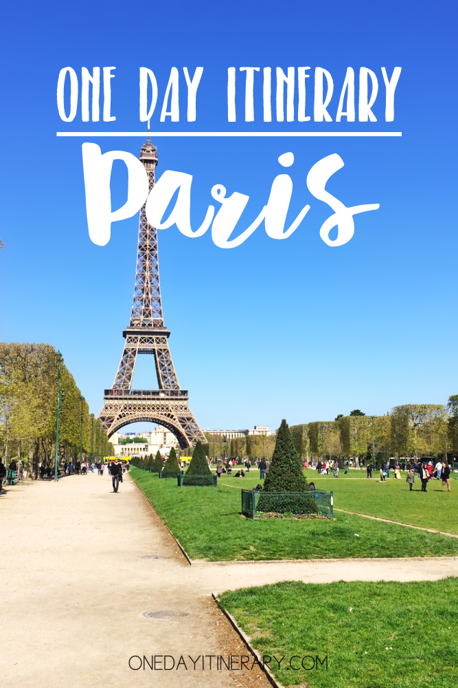 Paris France One day itinerary