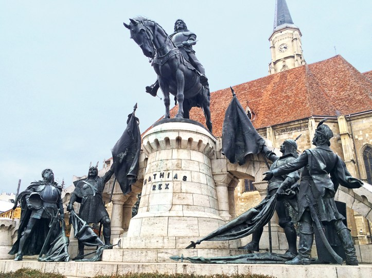 King Matthias Corvin Statue Cluj Napoca