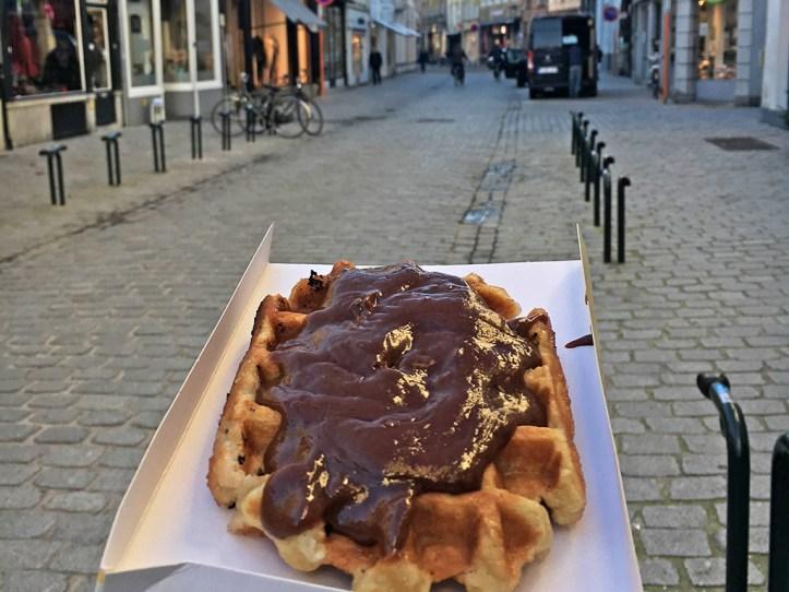 Belgian Waffle in the Markt Bruges