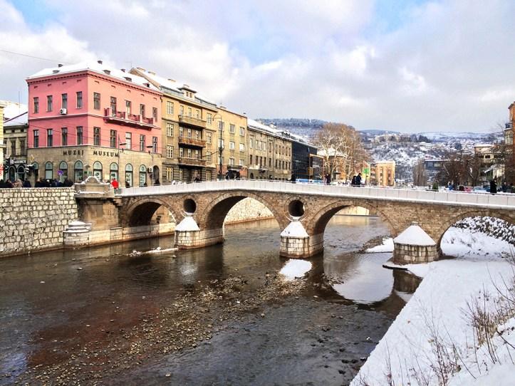 Latin Bridge and WWI corner in Sarajevo