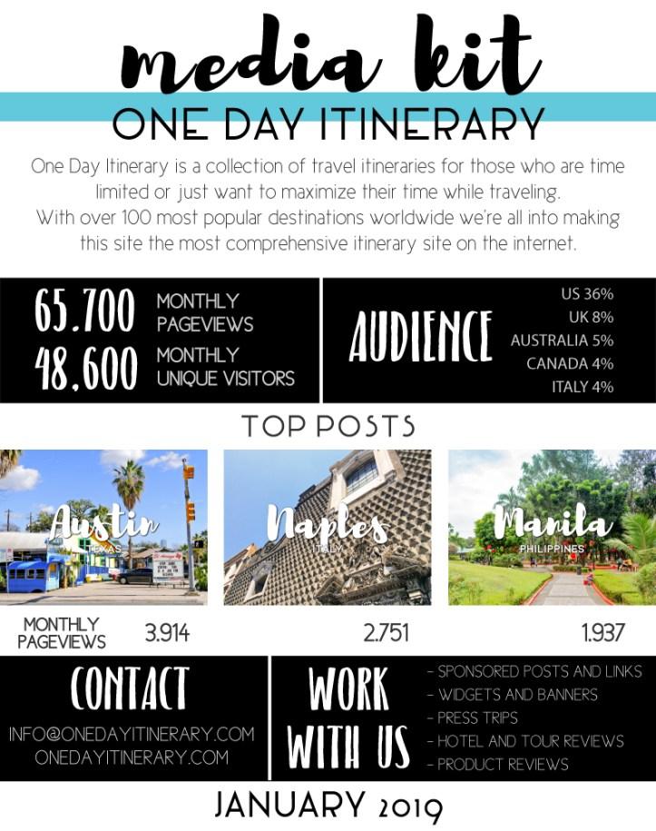 One Day Itinerary Media Kit January 2019