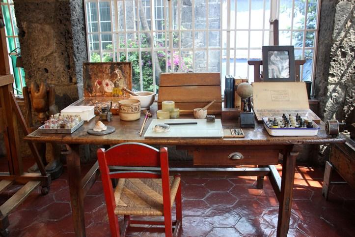 Frida Kahlo's house interior, Mexico City