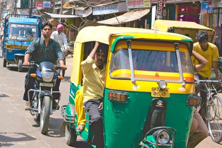Tuk-tuks in Delhi