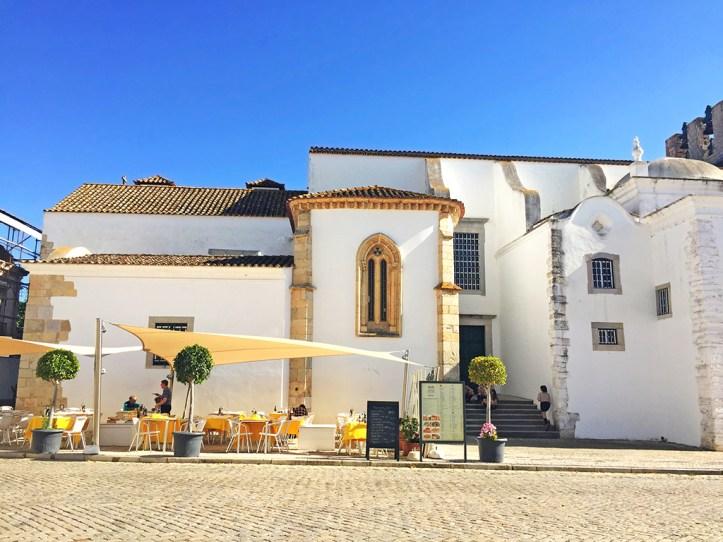 Beautiful Cafe Terraces in Faro Portugal