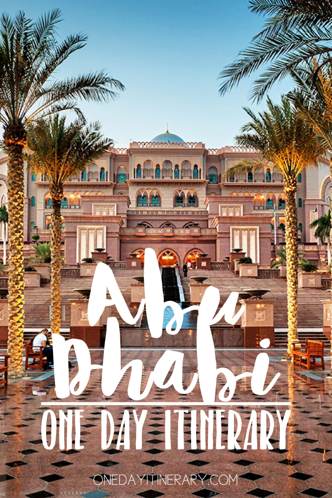 Abu Dhabi UAE One day itinerary