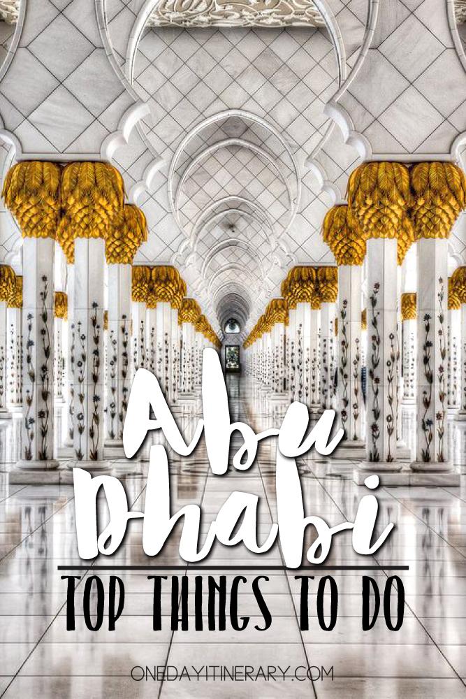 Abu Dhabi UAE Top things to do