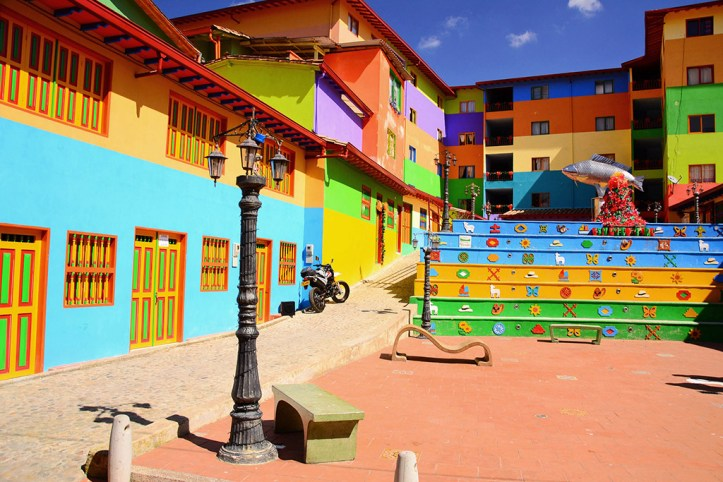 Vibrantly painted houses, Guatape