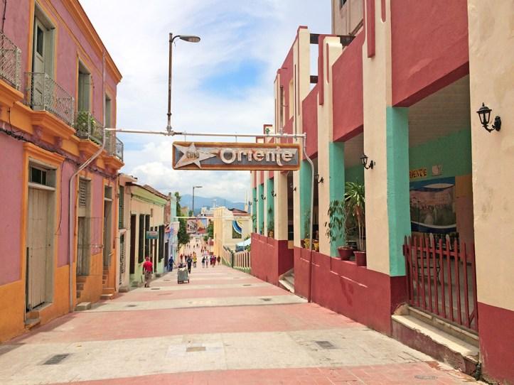 Jose Antonio Saco street Santiago de Cuba