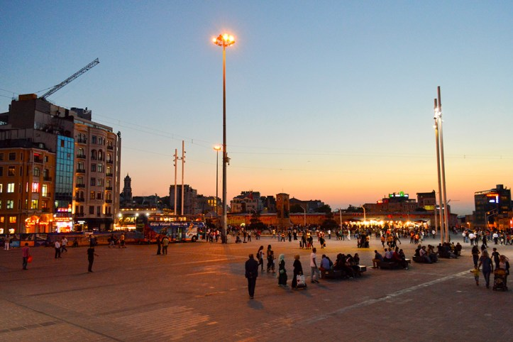 Taksim at night