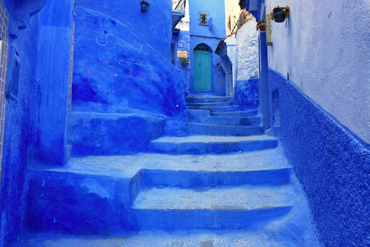 Blue-painted houses of Medina