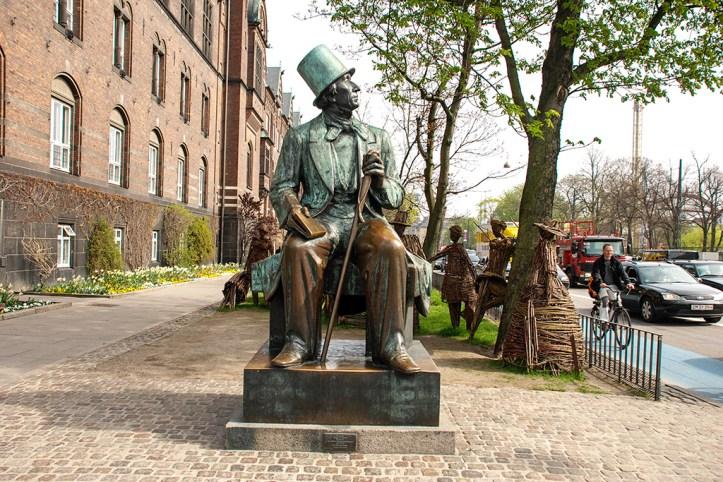 Hans Christian Andersen's statue